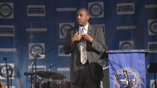 GOP Presidential Candidate Ben Carson Campaigns In Colorado